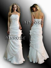 ONE OF A KIND! BEADED EVENING/FORMAL/BRIDESMAID/BALL GOWN; IVORY AU 12/US 10