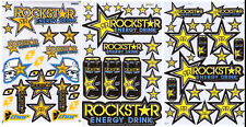 Rockstar Energy Motocross Racing Graphic stickers/decals. 3 sheets (set7).