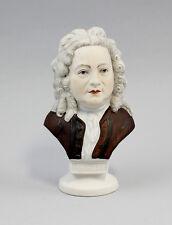 Bisquit Porzellan Büste Händel handbemalt Wagner & Apel Thüringen H15cm  9942381