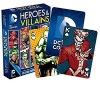 Carte De Jeu DC Comics Heroes And Villains - Lot De 52