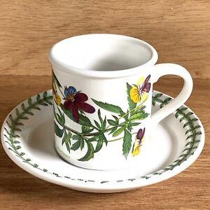 Vintage Portmerion The Botanic Gardens Small Coffee/Espresso Cup & Saucer Viola