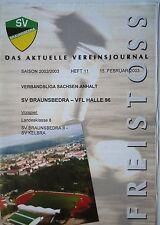 Programm 2002/03 SV Braunsbedra - VfL Halle