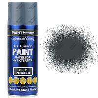 9 x 400ml All Purpose Grey Primer Aerosol Spray Paint Household Car Plastic