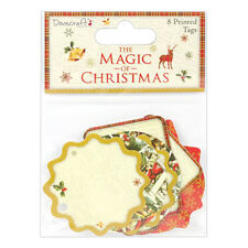 Dovecraft The Magic of Christmas Printed Tags for cards & craft