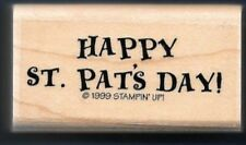 Happy St. Pat'S Day! Words March Irish Holiday New Stampin' Up! Rubber Stamp