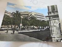 Postkarte Oldtimer Bohrmaschinen Sizilien Piazza Bahnhof Reiste 1961