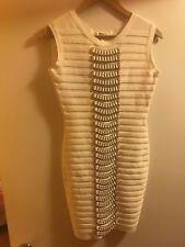 White metal bandage dress Club wear Sexy Cocktail Size Large