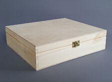 Wooden Box Decoupage Craft Storage Plain Wood Jewellery