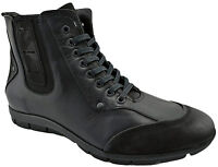 $230 OVATTO Black Calf Leather & Suede Ankle Boots Men Shoes NEW COLLECTION
