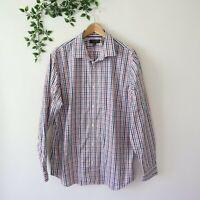 Banana Republic Men's Non Iron Slim Fit Long Sleeve Button Front Shirt XL Check