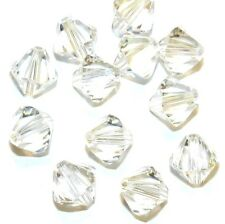 SCB692f MOONLIGHT Clear 8mm Faceted Xilion Bicone Swarovski Crystal Beads 12/pkg