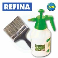 "REFINA 6"" Plastering Water Splash Brush & Plasterers 1.5L Pressure Spray Bottle"