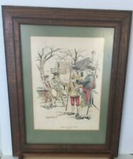 "Virginia County Militia Troops By Eugene Wood Framed 12""x 8"" C1"