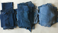 Lot of 107 Pieces of Cut-up Jeans; Irregular shapes; 2.5 pounds