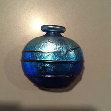 Peter Layton London Glassblowing Workshop Iridescent Glass Perfume Bottle Vase