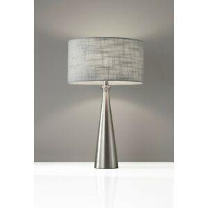 Adesso Linda Table Lamp- Steel, Brushed Steel - 1517-22