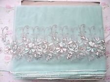 "1Y~7.5""~ Venise Embroidered Tulle Lace Trim Lingerie Home-decorating Wedding"