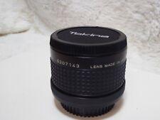 RMC Tokina Duplicatore 2x Tele Converter C/FD-Canon FD FIT Nuovo di zecca