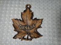Vintage Durwood Canada Canadian Maple Leaf Souvenir Small Wall Hanging
