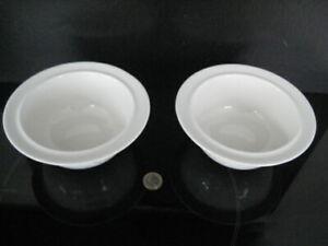 2 X ALESSI LA BELLA ETTORE SOTTSASS OFF WHITE CHINA CEREAL SOUP DESSERT BOWL UK
