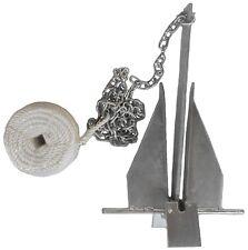 8.5 lb Deluxe Danforth Style Fluke Anchor Kit w Chain & Line for 15 - 24 boat