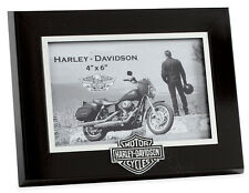 HARLEY-DAVIDSON - 6 x 4 - PHOTO PICTURE FRAME - IDEAL GIFT - MOTORCYCLE - BLACK
