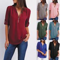 Fashion Women Short Sleeve Pullover Sweatershirt Blouse Hoodie Jumper Top Shirt