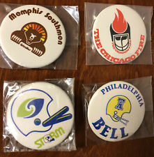 RARE 1974 WFL World Football League Lot of 4 Buttons Pinbacks Southmen etc. 2""