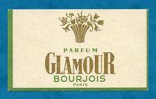 PRETTY C1940'S ADVERTISING CARD GLAMOUR BOURJOIS PERFUME PARIS