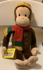 """Macy's Curious George 24"""" Plush Stuffed Animal Doll with Book"""