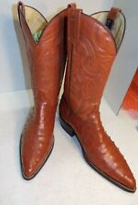 Mens El General Rust ColorOstrich Pattern Leather Marked Mexico Size 29