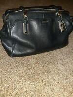 Coach Madison Black Pebble Leather Carryall Large