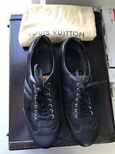AUTHENTIC LOUIS VUITTON BLACK SNEAKERS SIZE LV 8.5