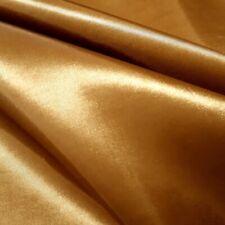 "ANTIQUE BRASS DARK GOLD DRESS TAFFETA Fabric Polyester 58"" By The Yard"