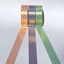 Set of 3 Pastel Mermaid Gold Foil 15mm Washi Tape for Planners Stationary