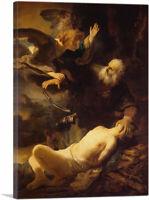 ARTCANVAS The Sacrifice of Isaac 1630 Canvas Art Print by Rembrandt van Rijn
