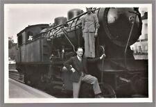 TRAIN PORTUGAL SINTRA LINE 1946 STEAM LOCOMOTIVE SCARCE ITEM ANTIQUE PHOTO