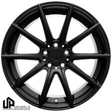 UP100 19x8.5 5x114.3 Matte Black ET35 Wheels Fits Tiburon Veloster Mazda 3 6 Rx8