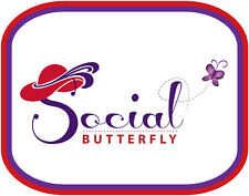 3X PURPLE T SHIRT SOCIAL BUTTERFLY A RHS DESIGN FOR RED HAT LADIES OF SOCIETY