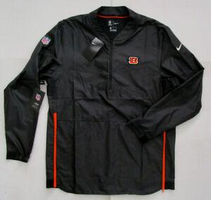 Nike Men's NFL OnField Softshell Coaches Jacket, New Black Cincinnati Bengals L