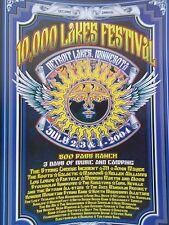 10,000 Lakes Fest Poster Signed J Miller 311 String Cheese John Mayer Maroon 5