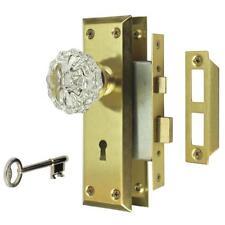 Defiant Home Mortise Door Lock Set Satin Brass Finish 632 635 Glass Knob no-tax