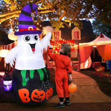 5 Foot Halloween Inflatable Ghost Yard Art Decoration With Lantern Led Lights Us