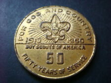 Boy Scouts of America , 50 Years of Service 1910 - 1960 Medal    token coin