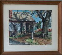 MYRTLE TREMBLAY ORIGINAL Watercolor Landscape Farmhouse Hand Signed