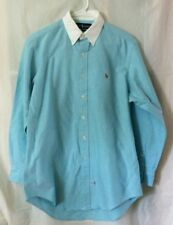 NOS Men's Polo Ralph Lauren Dress Shirt Button down - Blue - Size 15 1/2 - 33