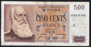 Banque Nationale de Belgique 500 Cino Cents Francs 1953 Banknote