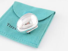 Tiffany & Co Silver Egg Pill Box Holder Rare Pouch Included