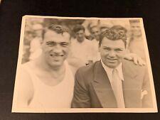 Primo Carnera & Jack Dempsey Studio Boxing Photo Type 1 PSA Ready Clean Rare