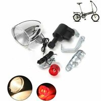6V 3W Bicycle Motorized Bike Friction generator Dynamo Headlight Tail Light Kit